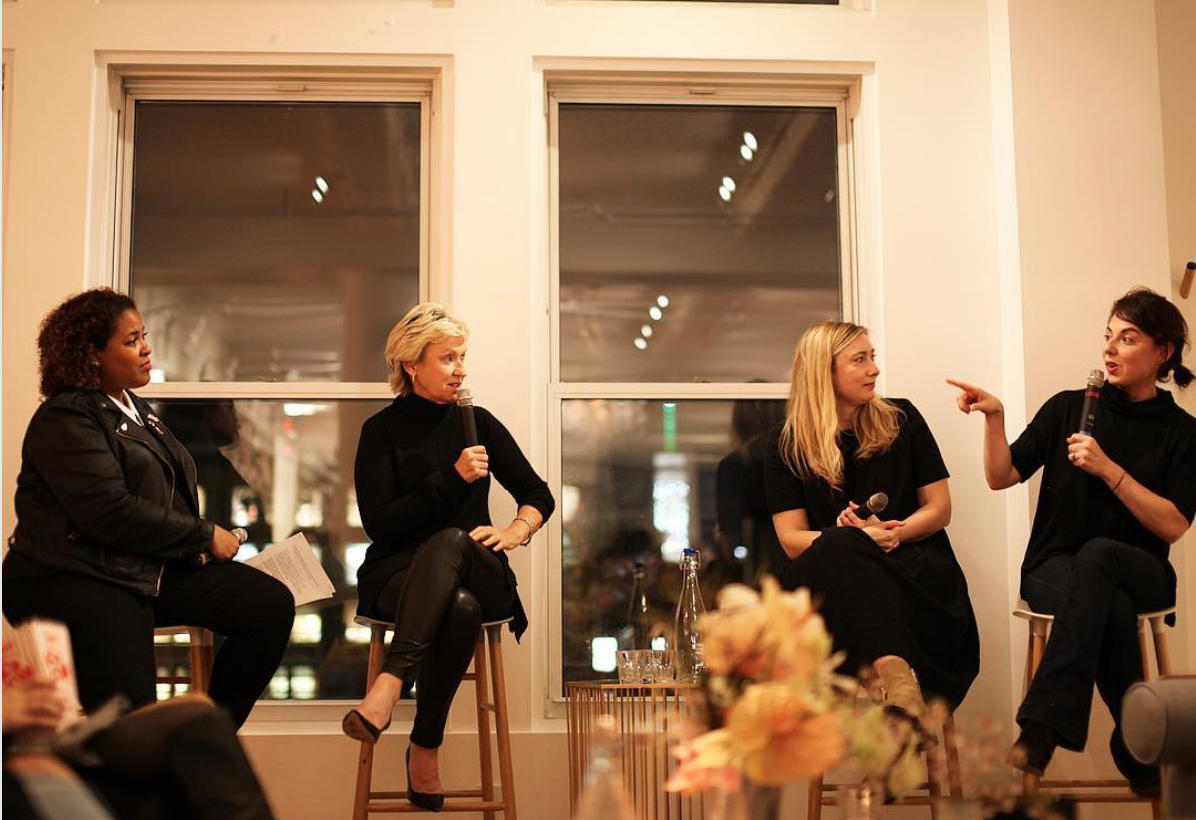 Discussing the 2016 election with Tina Brown, Liz Meriwether and Annie Karni at The Wing in New York City