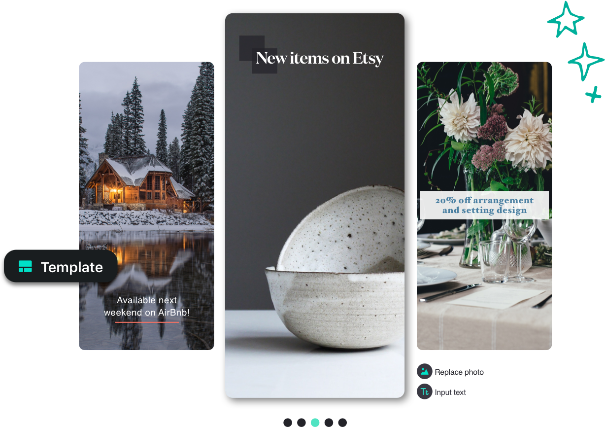 No Design Experience Needed - Themes perfectly designed for Instagram Stories and posts make it fast and easy for anyone to create beautiful, eye-catching content.