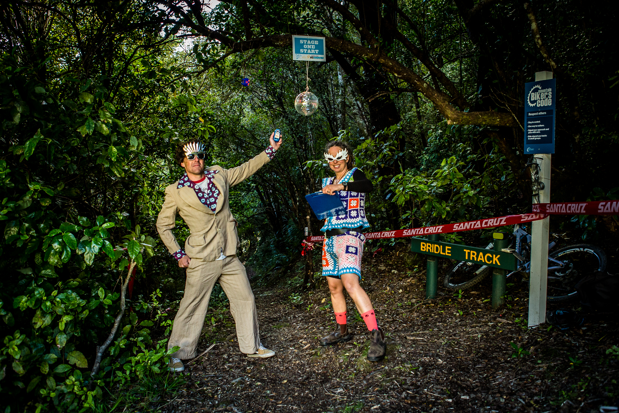 Start Marshals take their roles super seriously here at the NZ Enduro!!!
