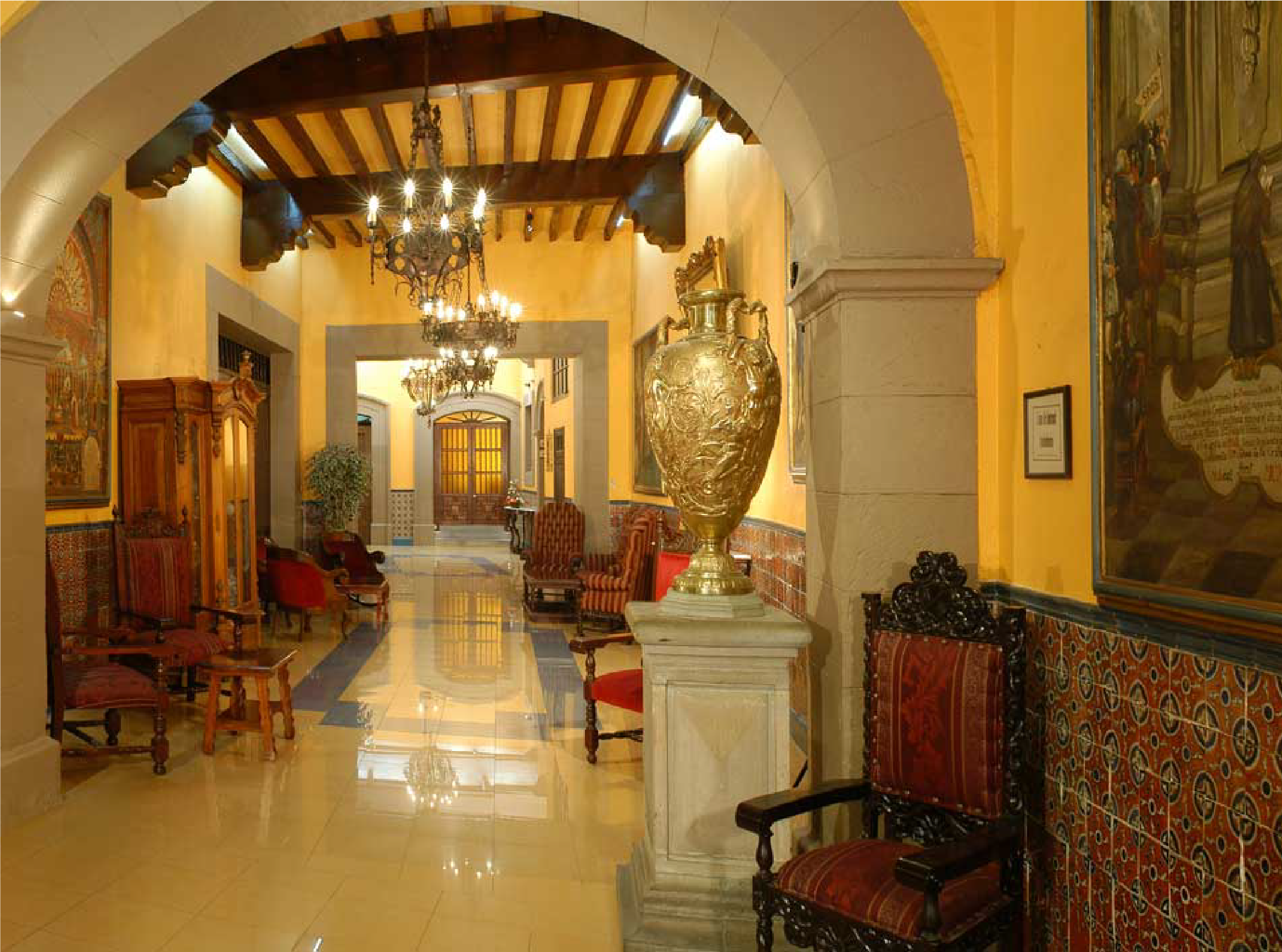 hotel Posada Santa Fe, Guanajuato - Day 14. March 1 Morning depart to Guanajuato. We do an off-trails city tour panoramic drive, El Pipila monument (savior of Guanajuato), dam of la olla, visit of the mine 'el nopal' (specialized guide and helmet provided), the house of the aunt Aura (house of fear), the ex-hacienda del cochero (museum of the inquisition) and finally the San Cayetano temple, Mummies. Rest of the day walking city tour. O/N Guanajuato.