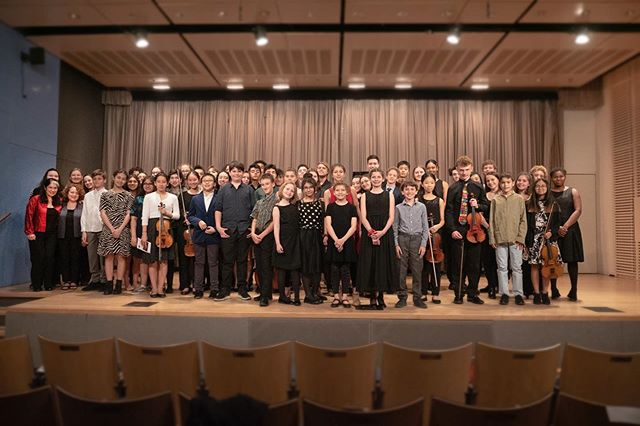 The CMC students and faculty at last night's chamber music concert at Scandinavia House. Less than a month till Carnegie!