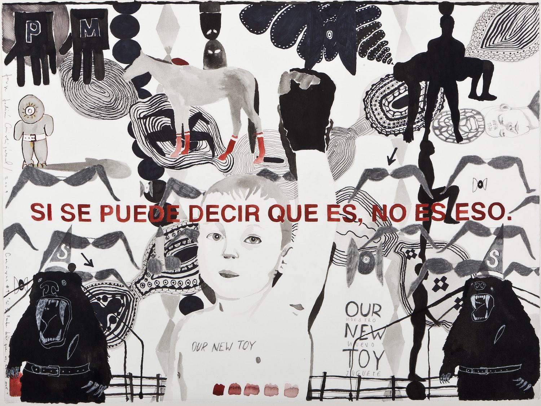 Consignas   Tinta y grafito sobre papel 57 x 70 cm. 2010