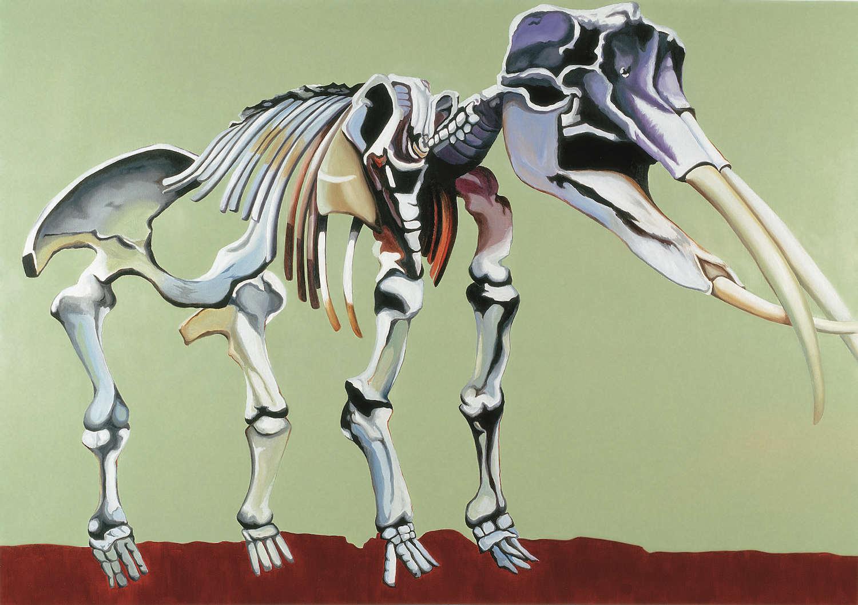 Mastodonte americano   Óleo sobre lino         156 x 112 cm. 2002