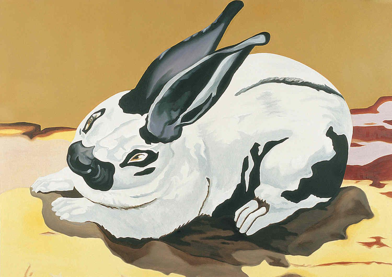 Conejo   Óleo sobre lino         156 x 112 cm. 2003