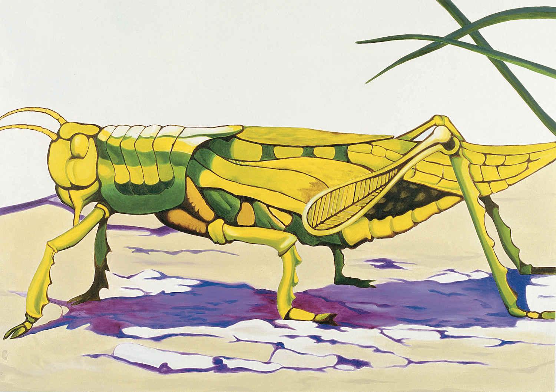 Grillo   Óleo sobre lienzo      156 x 115 cm.2002