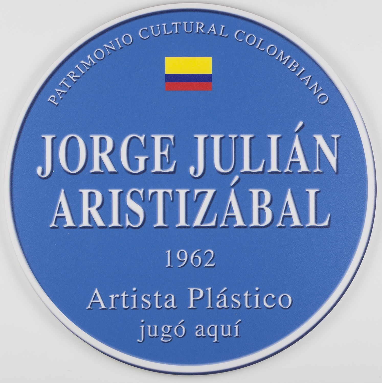 Placa conmemorativa   Impresión digital sobre plástico,35 cm de diámetro 2014