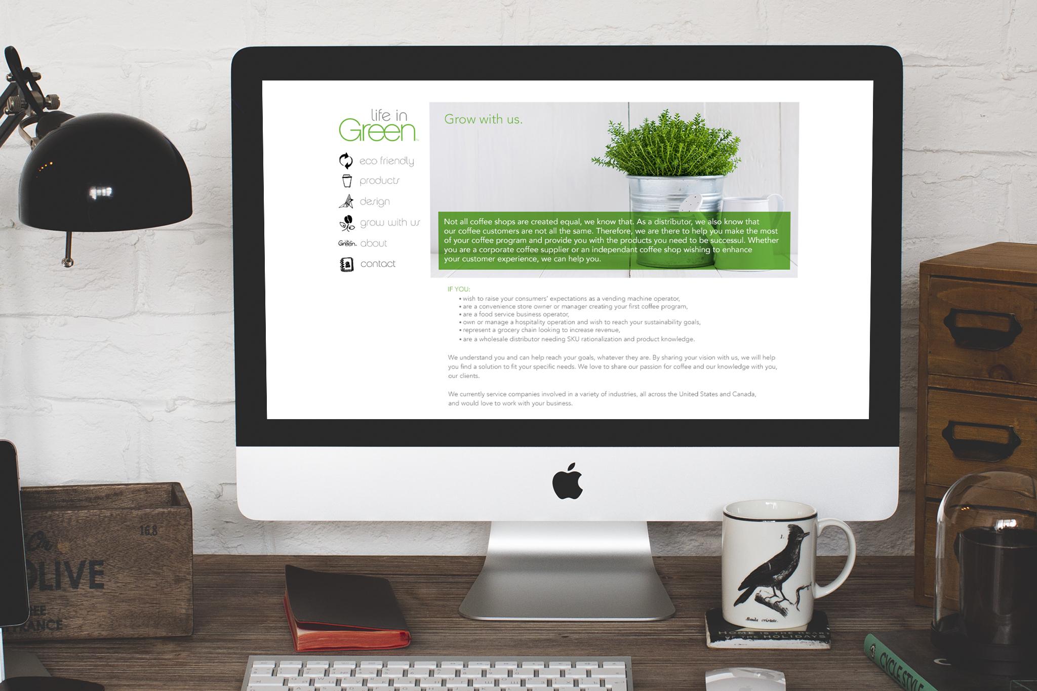 LIFE IN GREEN  /// Website