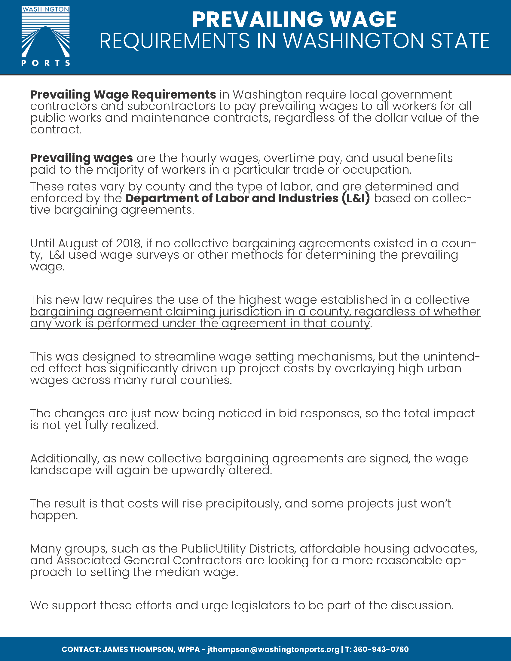 PREVAILING WAGE REQUIREMENTS - Download