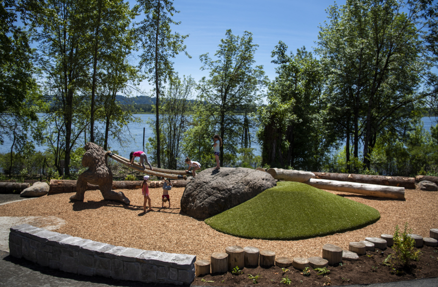 Port of Camas Washougal - Washougal's New Childrens' Nature Playground. Image Courtesy of The Columbian
