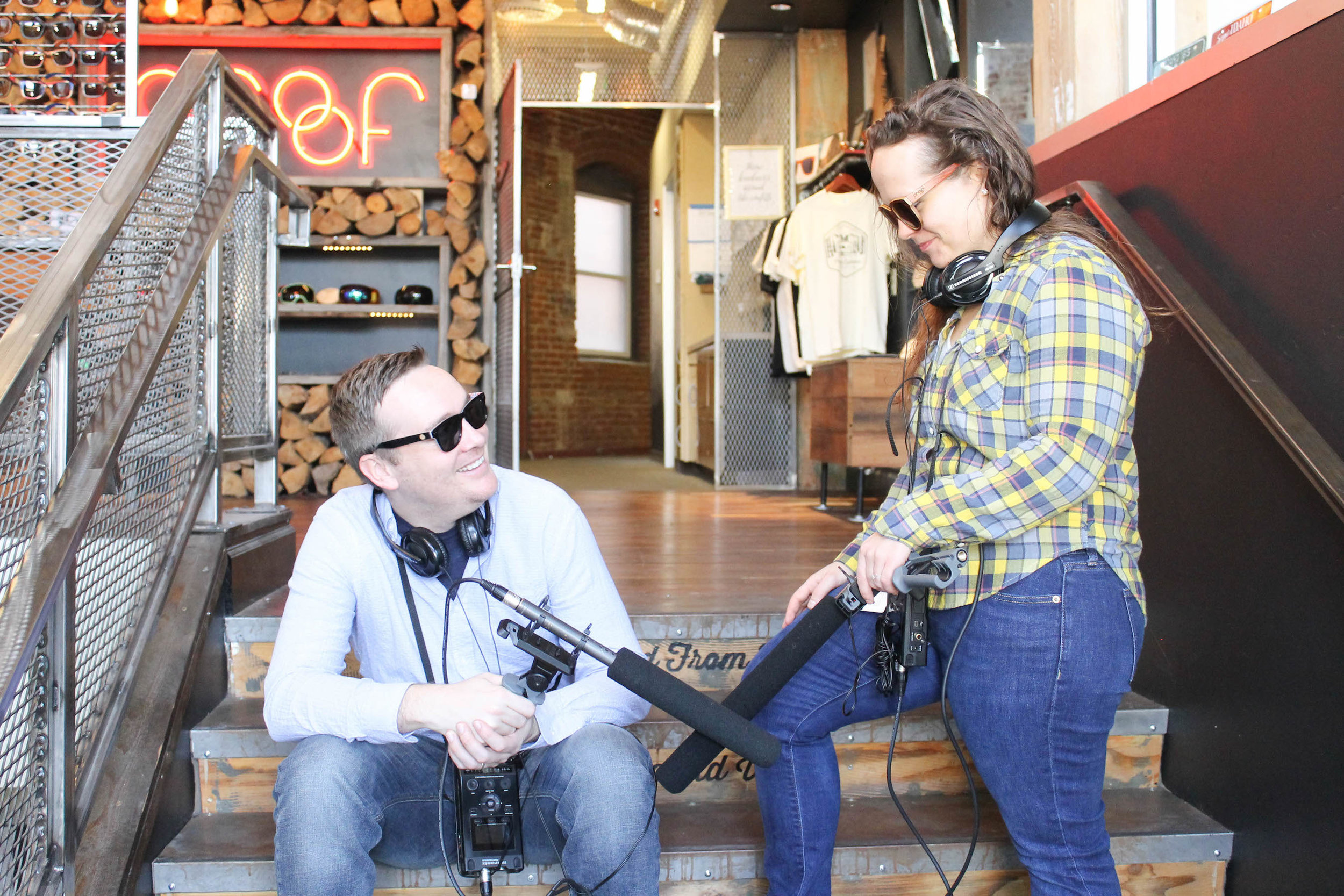 """You Know The Place podcast co-hosts and co-producers Joel Wayne and Lacey """"LD"""" Daley."""