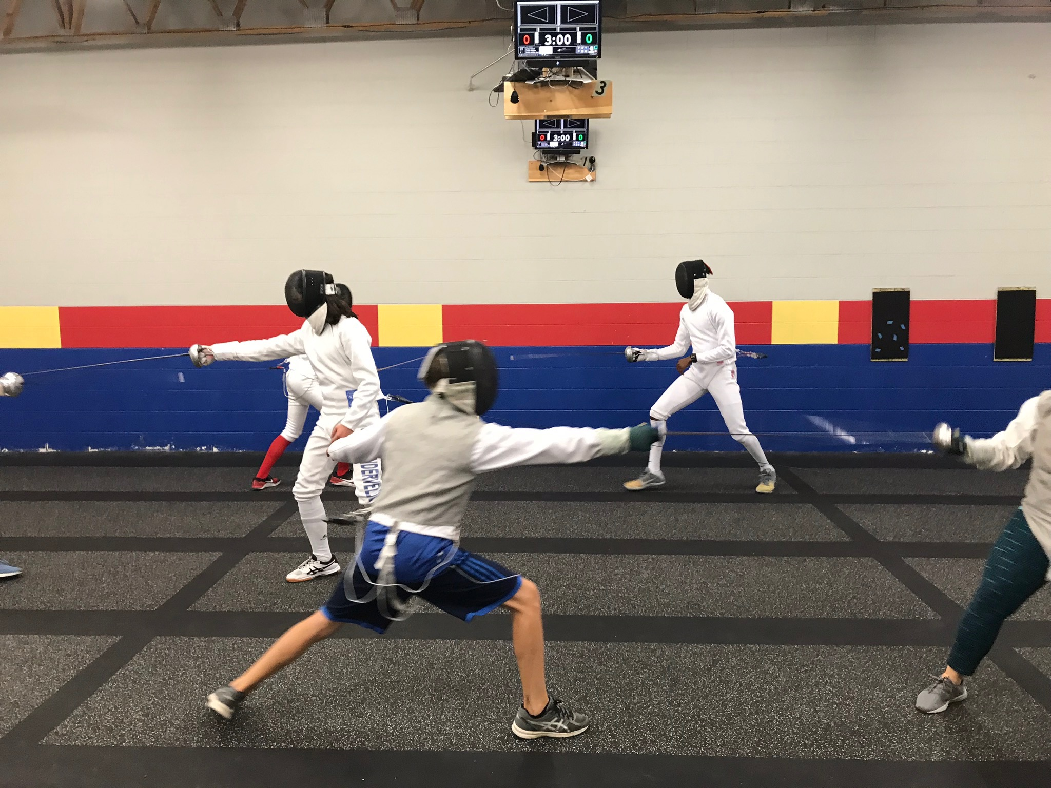 Boise Fencing club - Where LD practices some thrusting and parrying and Joel watches, awkwardly.