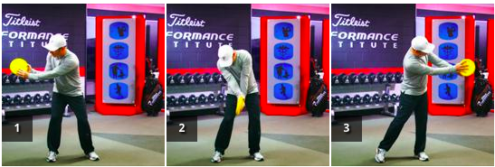 Two Hand Top Spin - Using a frisbee or ball, work through the release of elbow and wrist at the right position