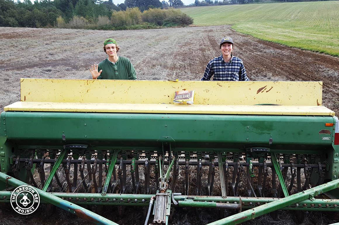 Garnett family members working the land.