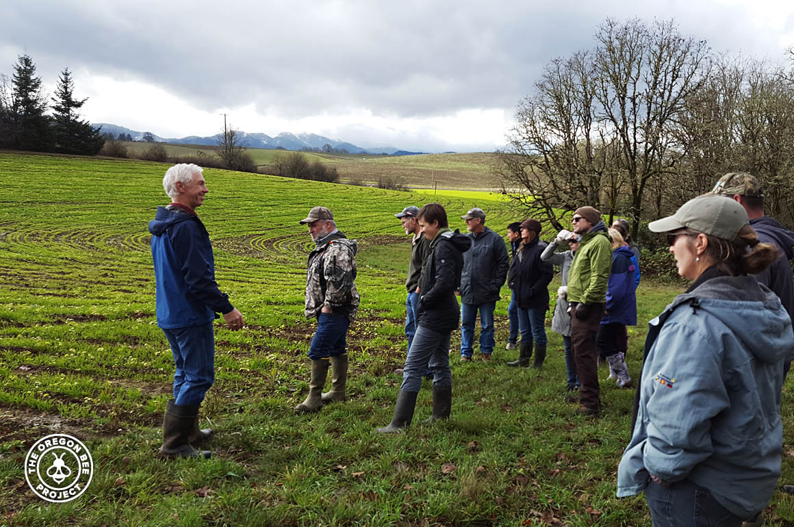 Owner Pryor offers educational talk about their organic practices .