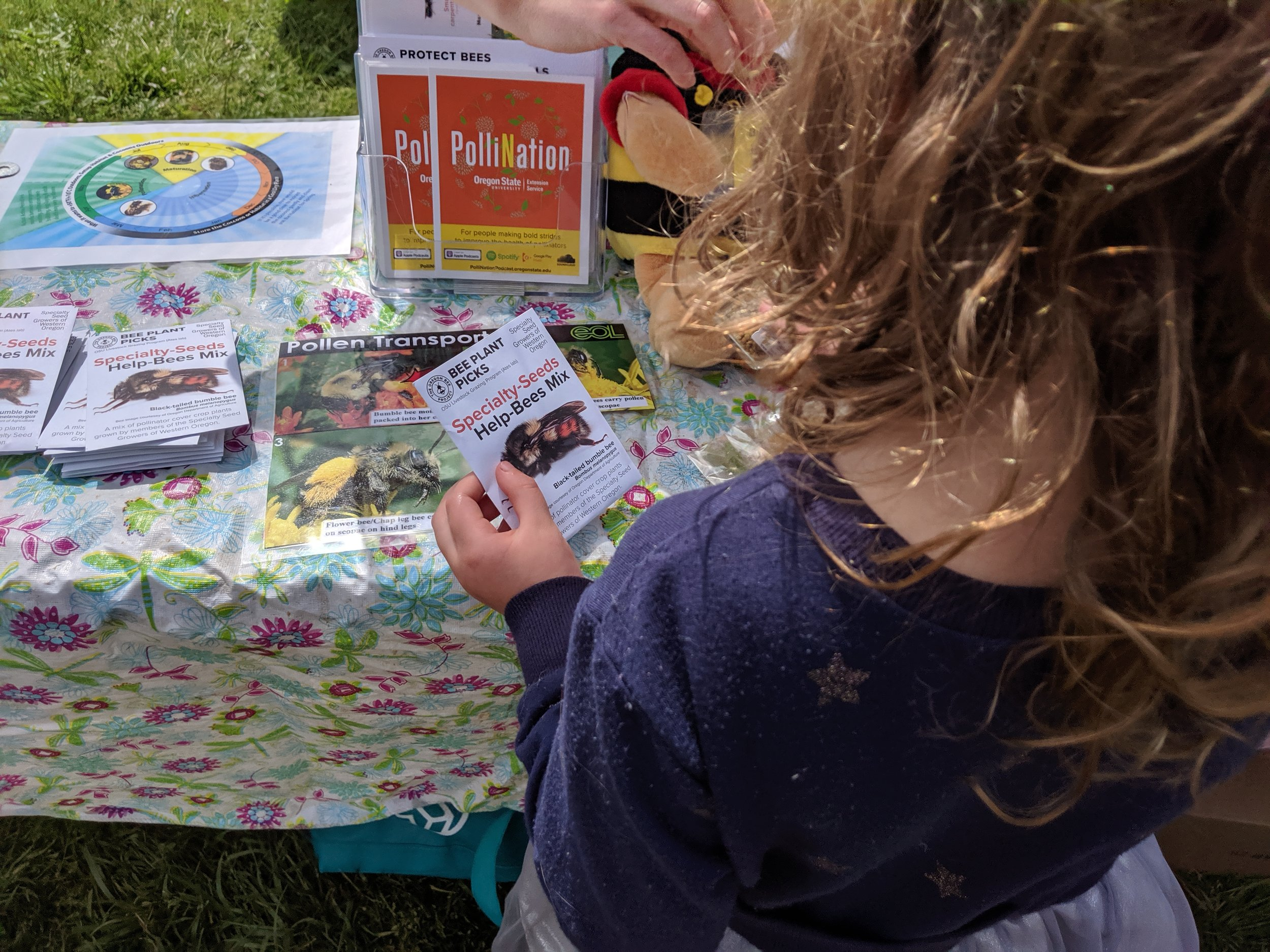 Seed pack being distributed at the Metro Pollinator Picnic at Howell Territorial Park on Sauvie Island on May 18, 2019.