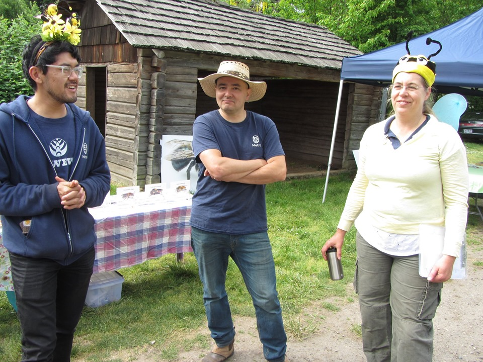 Portland Atlas co-team leader Bonnie Shoffner in full bee garb at the Metro Pollinator Picnic at Howell Territorial Park on Sauvie Island on May 18, 2019.