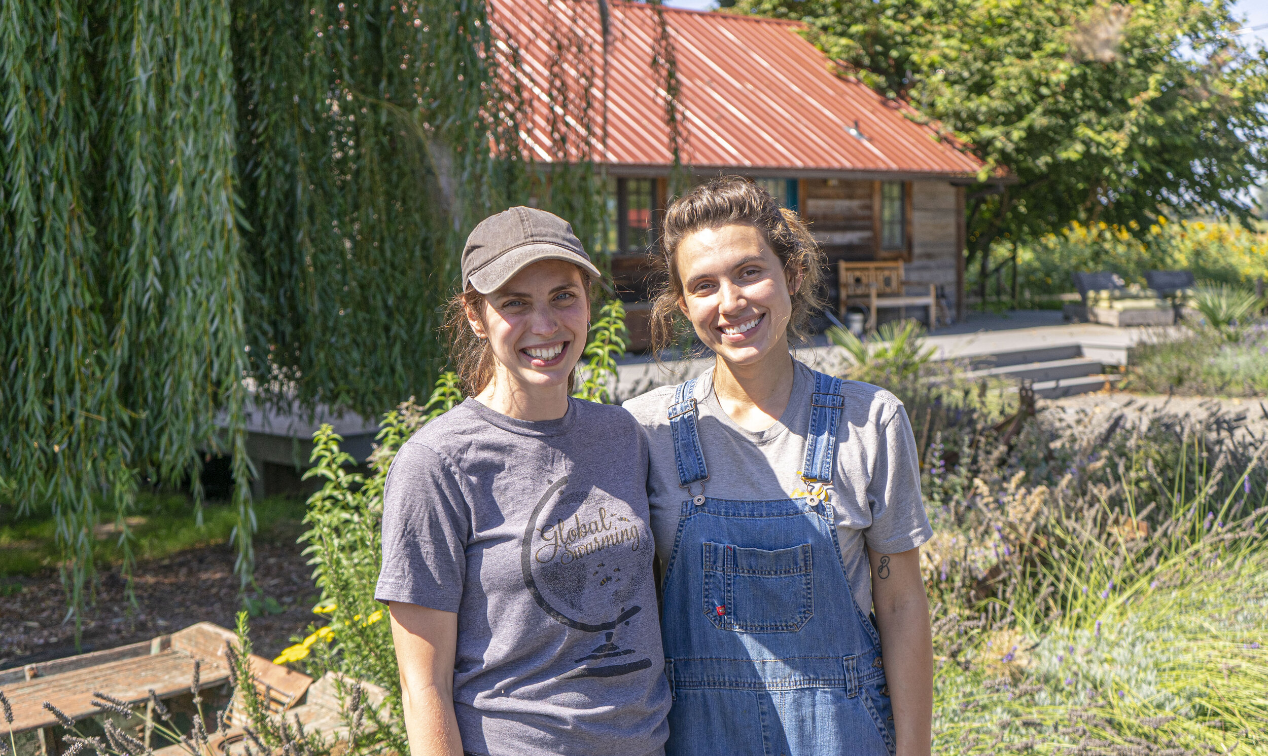 Rebekah and Emma are a part of Bee and Bloom which is an educational group working at the farm