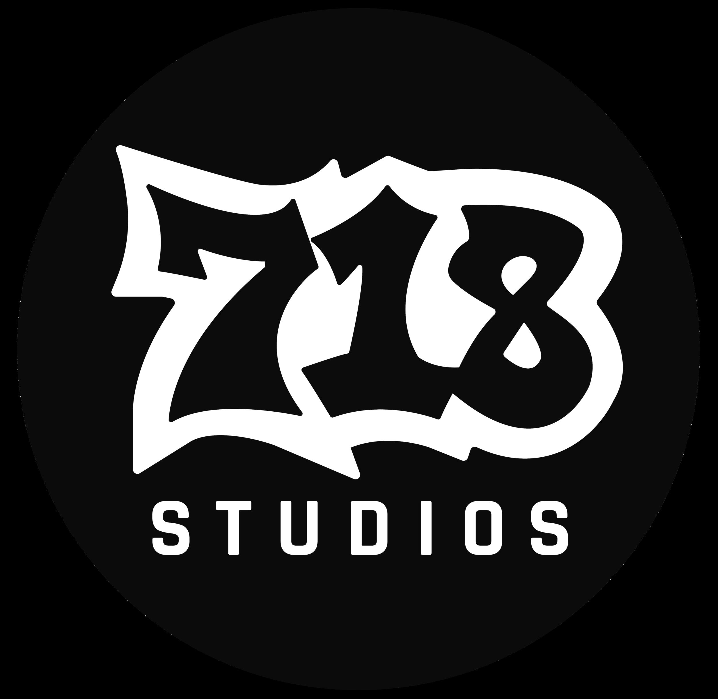 718-logo-21inch-white-black-circle.png