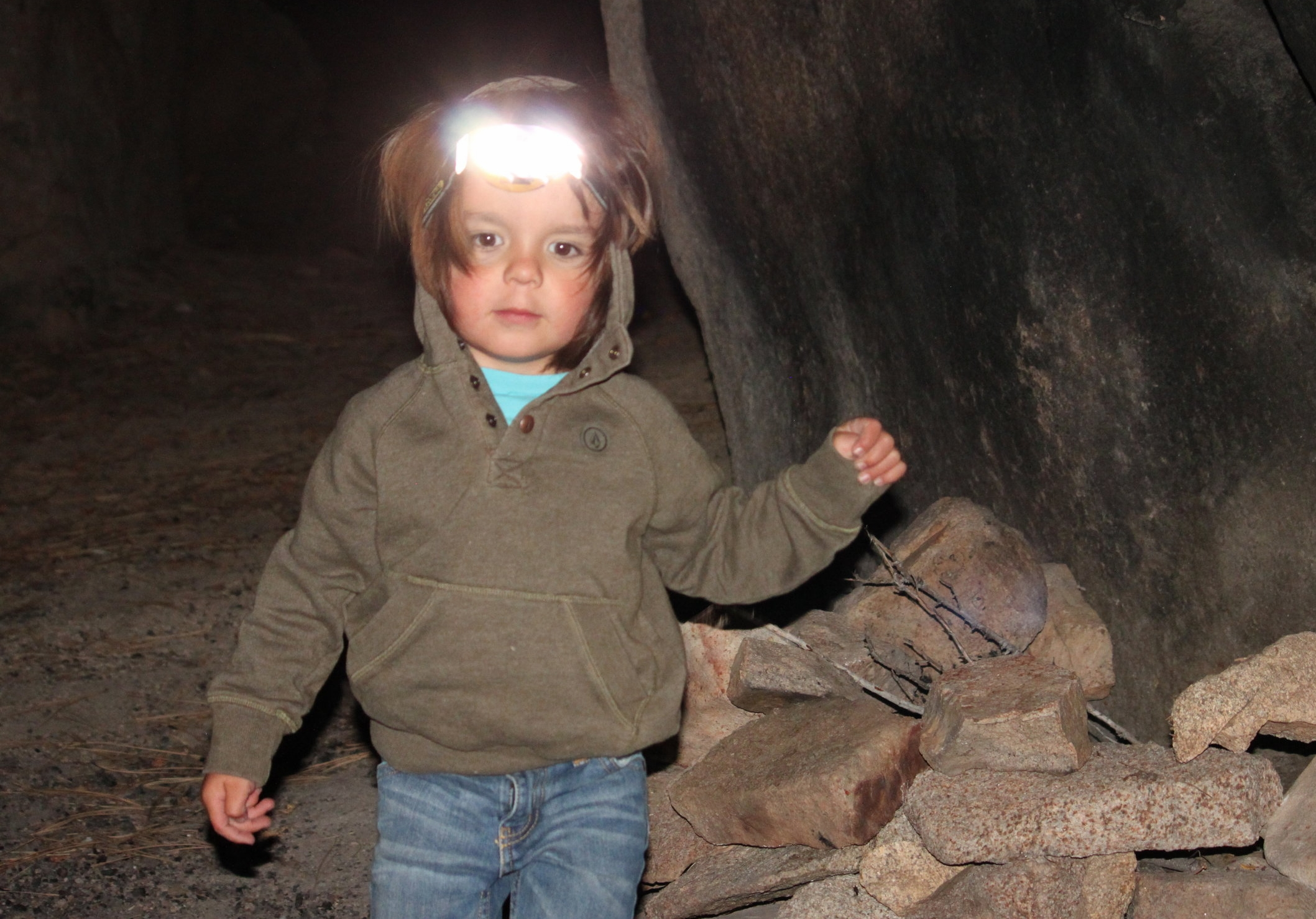 Keegan, three years old. Favorite camp activity: Building Fires.