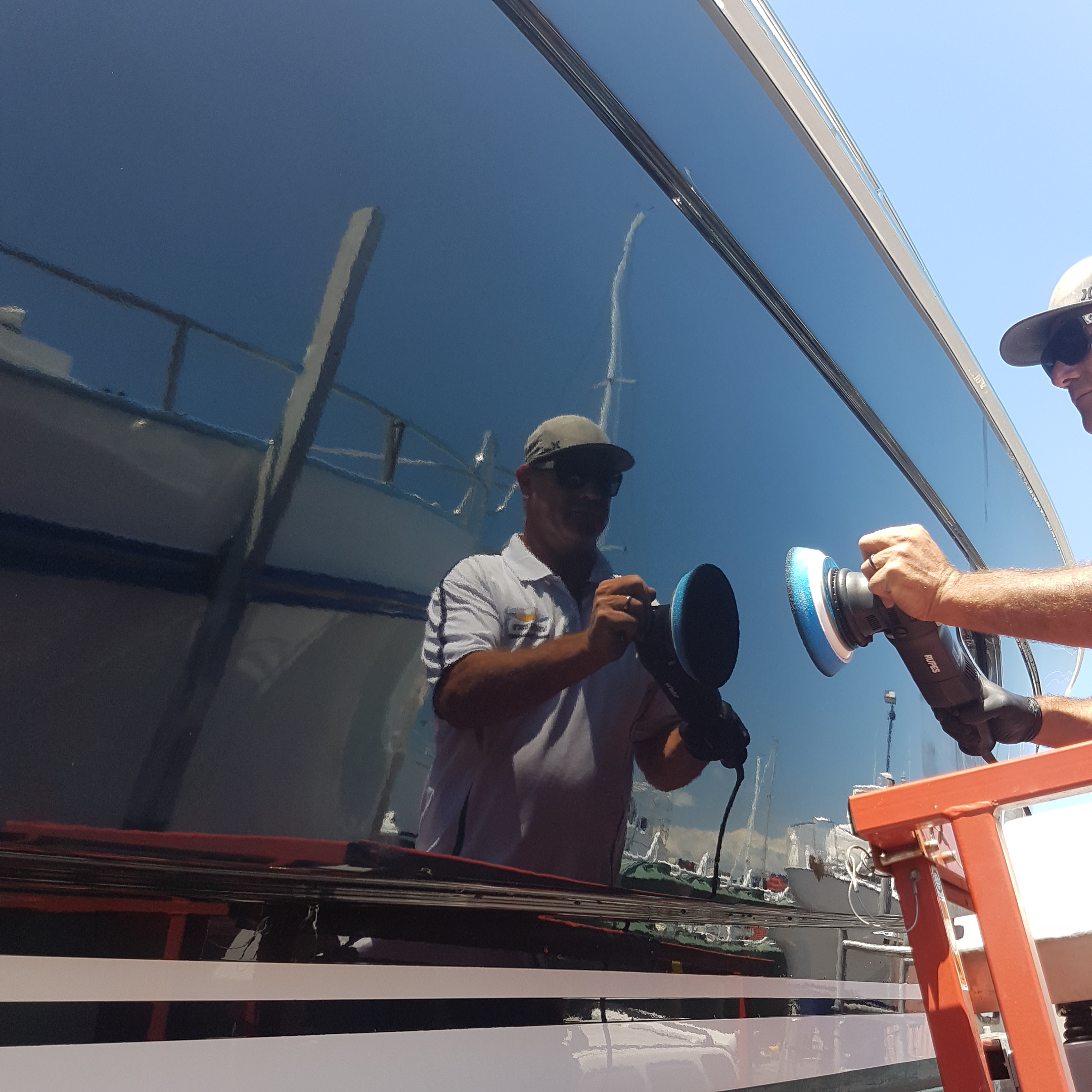 Boat Cut, Polish and Wax -