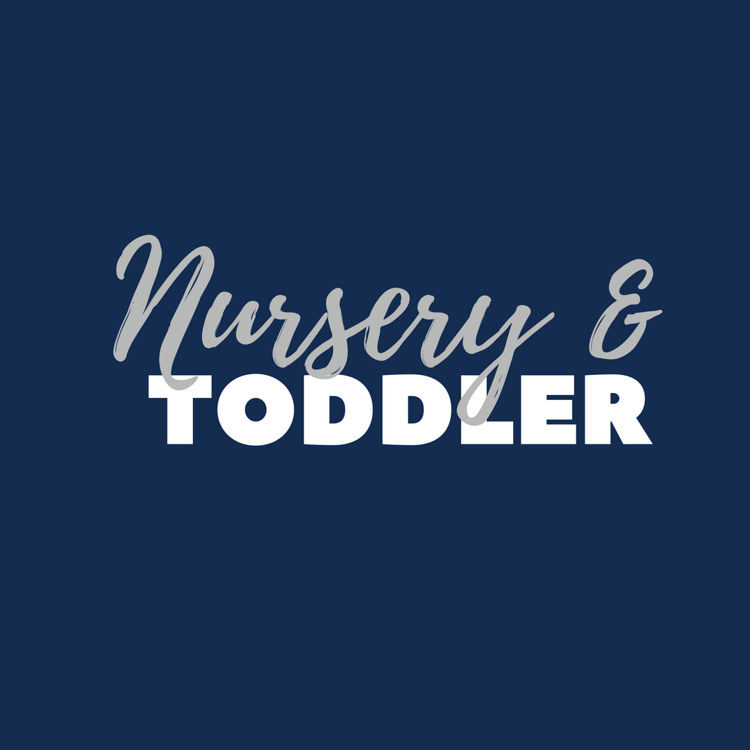 NURSERY & TODDLER  6 WEEKS - 5 YEARS  Each week our loving staff works to provide a safe environment for kids ages two and younger, while sharing the love of Christ through songs, care and social interaction.    LEARN MORE
