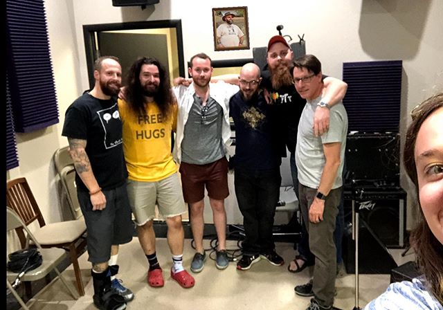 TBT recording our first album!  Fun facts about that trip: Clinton had only been a part of the band for a couple weeks and some of the tracks were recorded after we played it for him only once (that dudes got skills!) oh he also had a broken foot... Scott wrote Midnight Runner in that room while Cam was in the bathroom.  The whole album was recorded in two days thanks to @scouper4470 working hard behind the board. The night between recordings Scott, Danny, and Zach got 2 hrs of sleep thanks in part to PBR and roulette.  Scott still managed to get his morning jog in.  It was Cam's birthday.  Zach drank about 15 energy drinks out of a beaker and broke the motel bed.... And we are all still madly in love.  #band #bros #music #recording #grind #makingmusic #album #songs #create #dudes #nudes