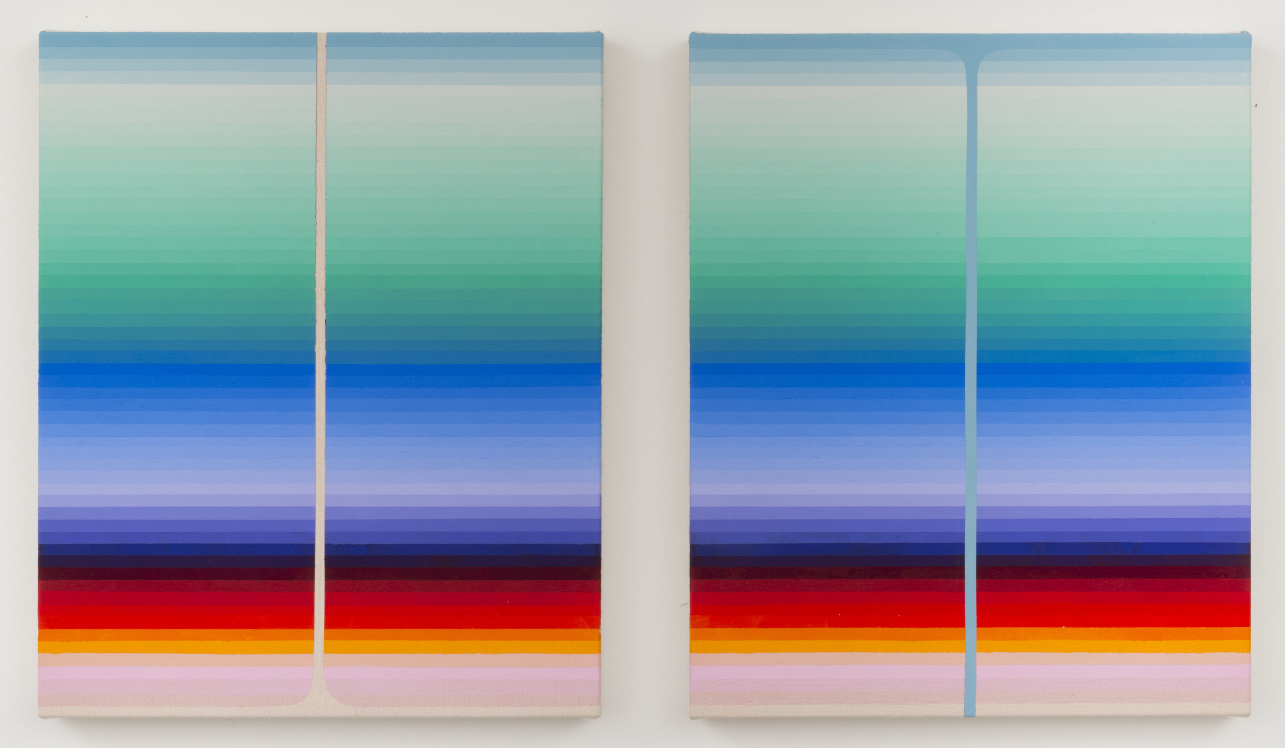 9 - Pour 1 and 2, 2017, 17x14 each  Flashe on canvas.jpg