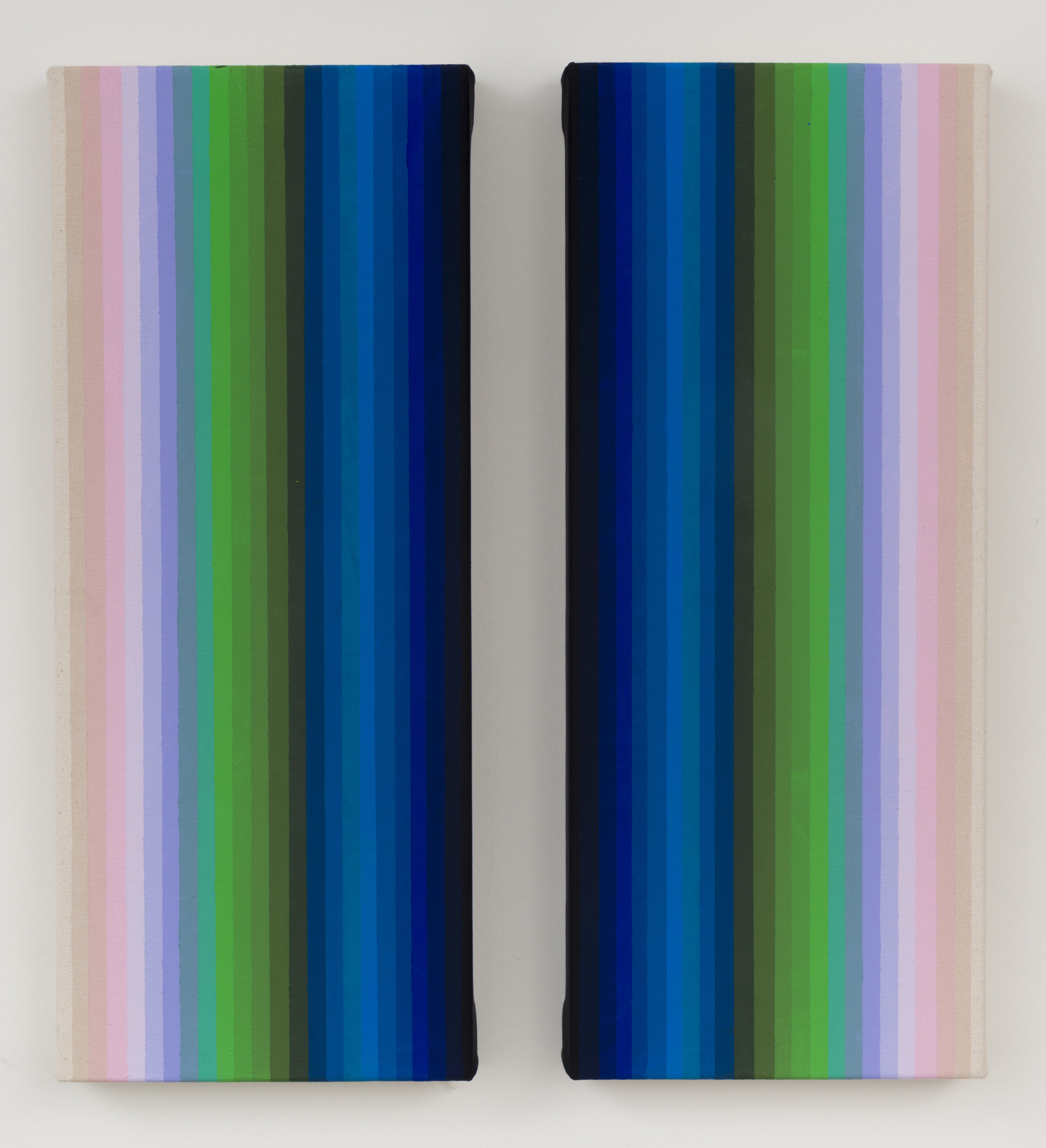 13 - Together And Apart, 2016, Diptych 17x7  each  Flashe on canvas.jpg