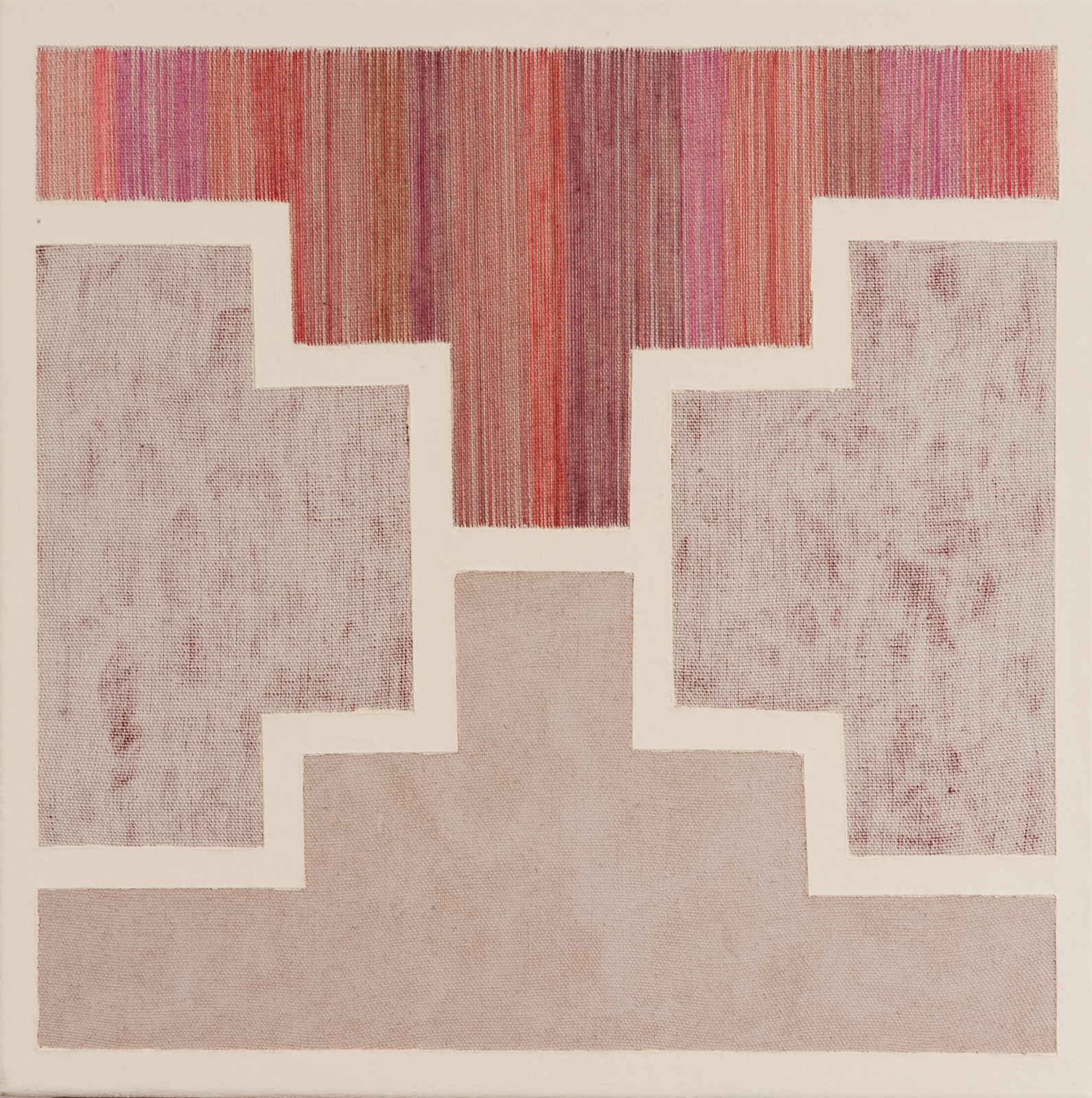 8 - Being Mama  2013  14x14  Flashe and thread on canvas.jpg