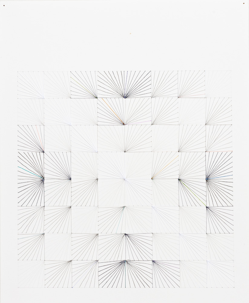 #62 (White X - again), 2011, thread, pencil, ink, paper, 17x14.jpg