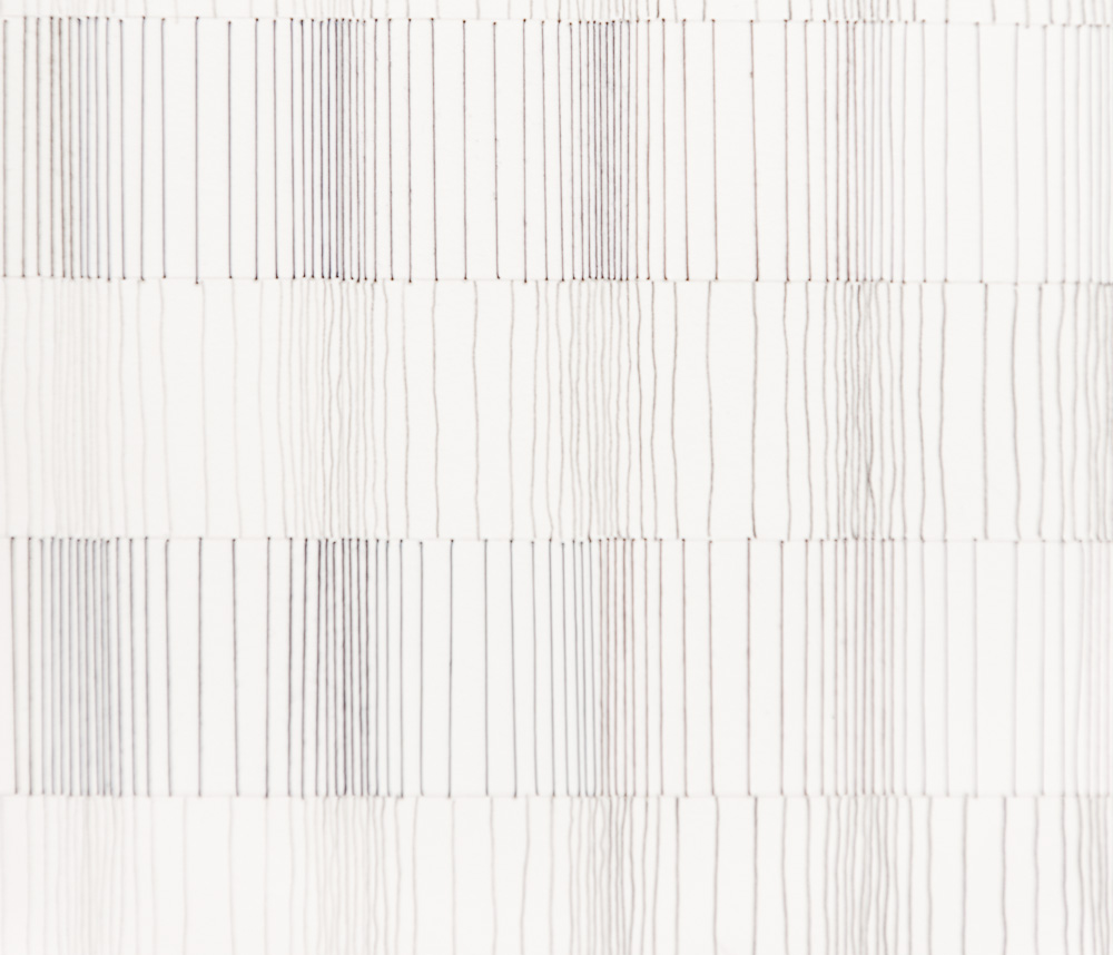 #66 (vertical grey) detail. 2011, 17x14, thread, pencil, paper .jpg