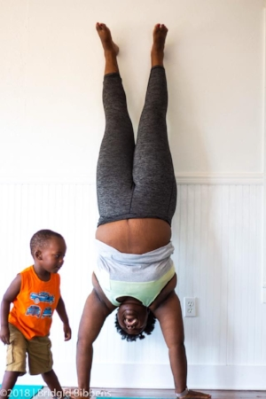 The Benefits of a Handstand. Teri Williams, Soul Strong Yoga teacher