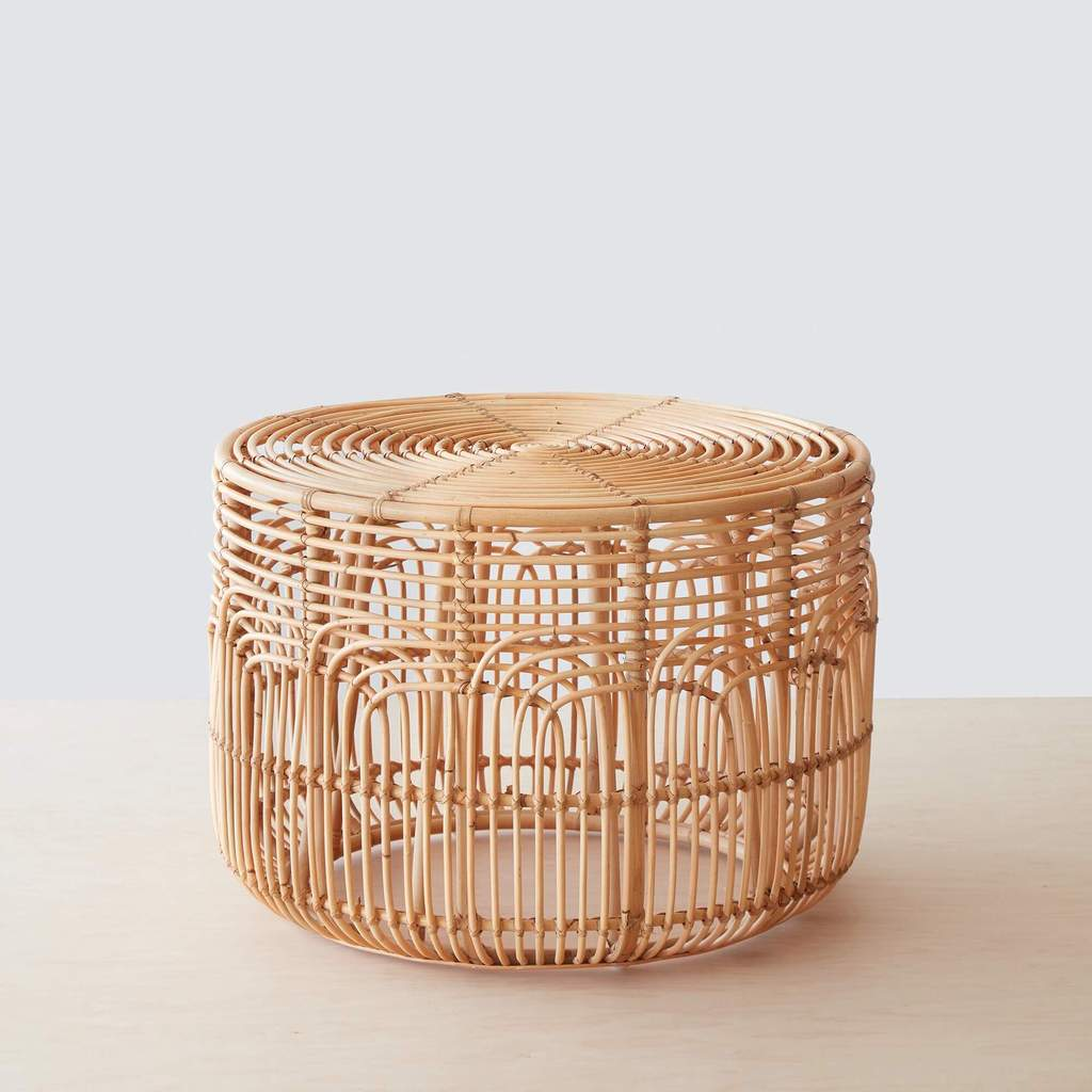 Naga Rattan Side Table - The Citizenry