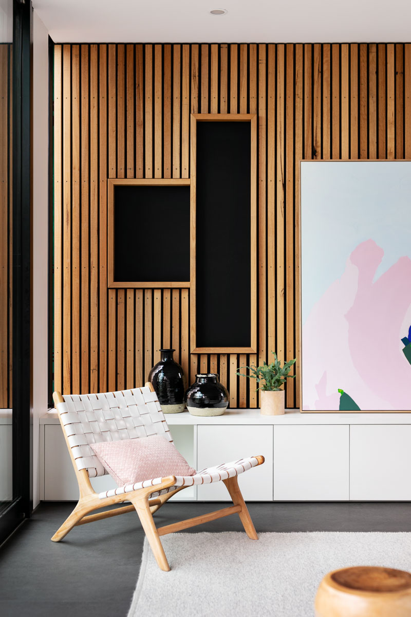 Modern Minimalist  Home in Melbourne | Dwelling Collective | Barnaby Lane Leather Armchair
