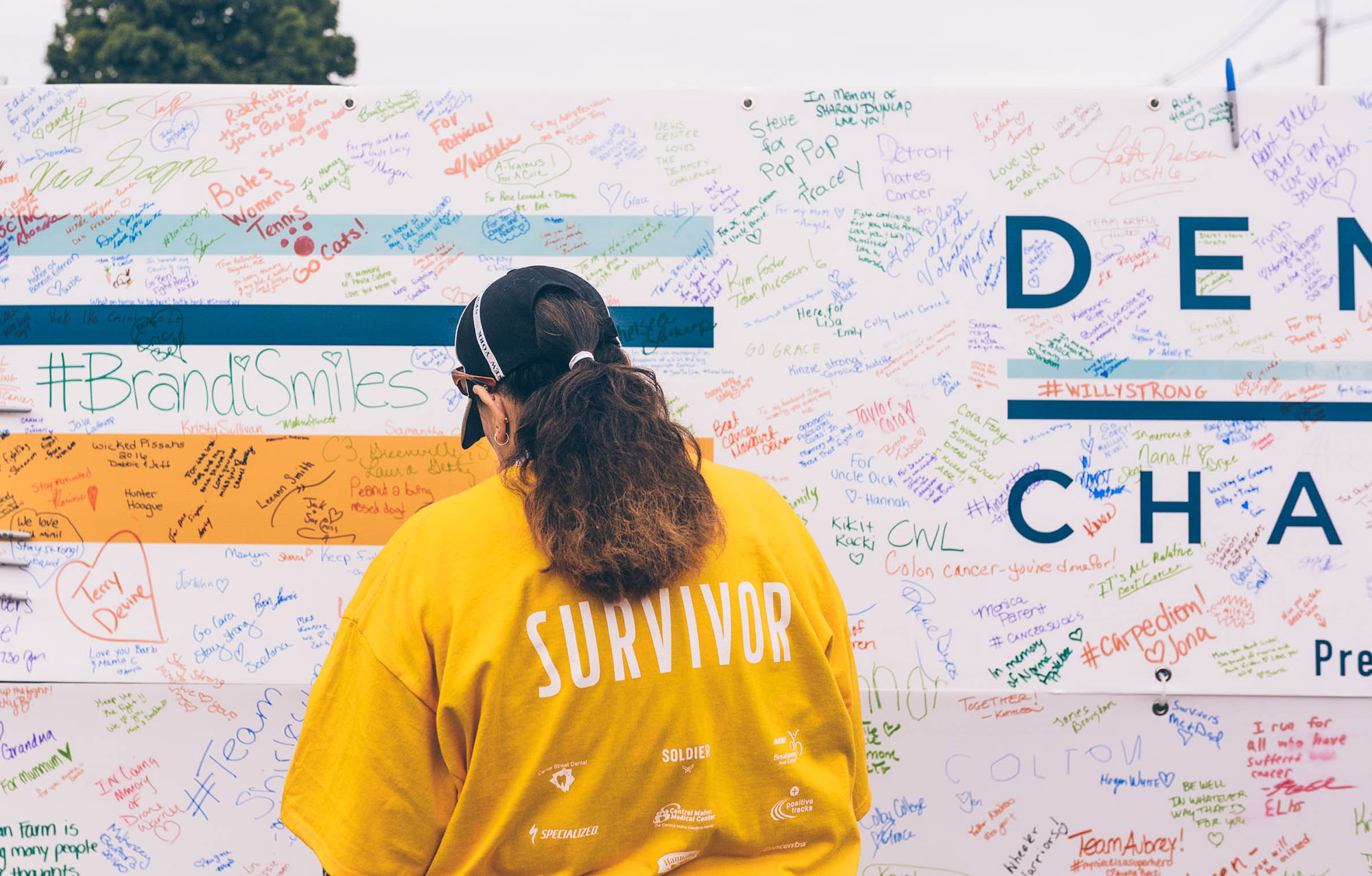 Dempsey Challenge title sponsor survivor wall