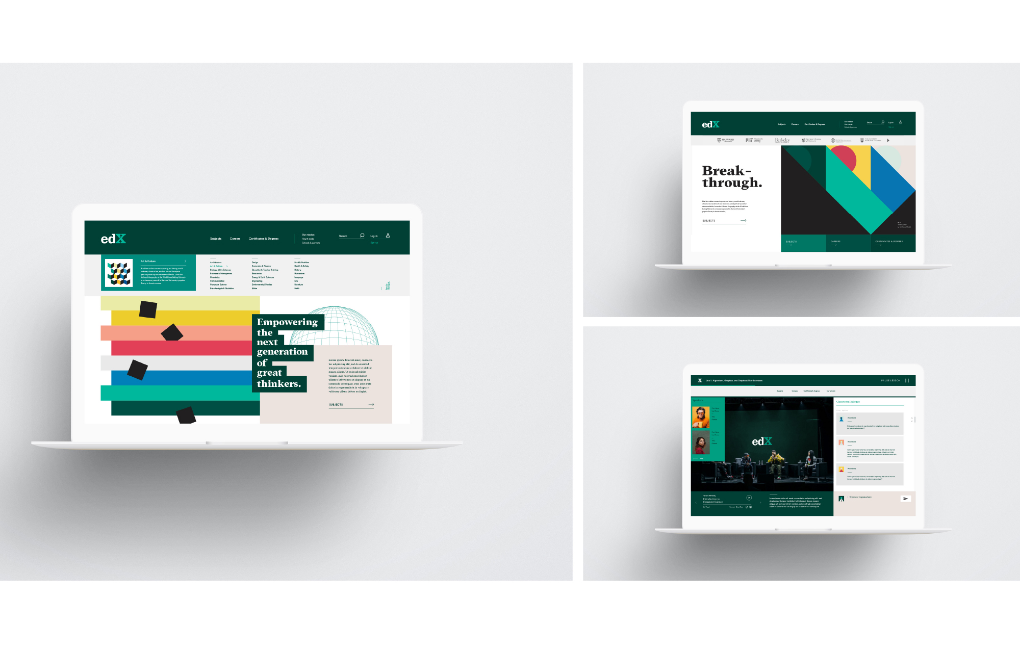 Online education desktop experience