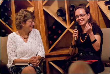 With author Ellen Crosby at Fall for the Book