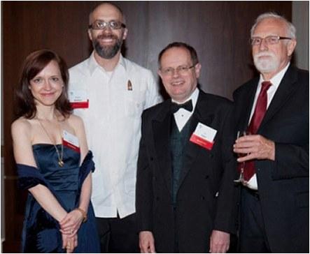 The Edgar® Awards Banquet, 2010. Megan was nominated for Best Paperback Original for    Bury Me Deep   .  (Matt Peyton Photography)