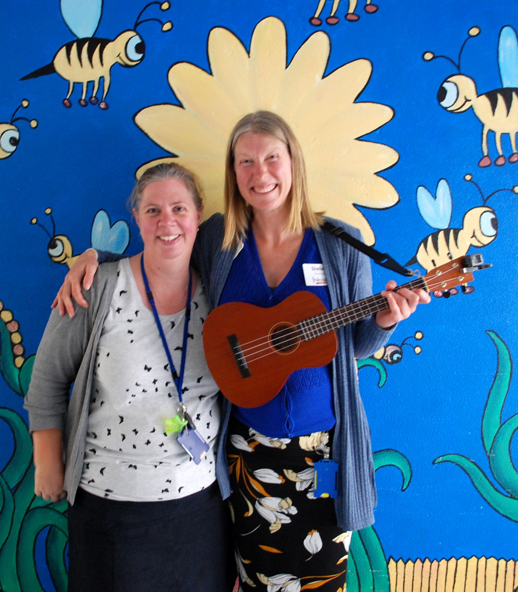 Andrea Allen and Shelley Haas after a morning of music on the paeds ward May 1st 2019.jpg
