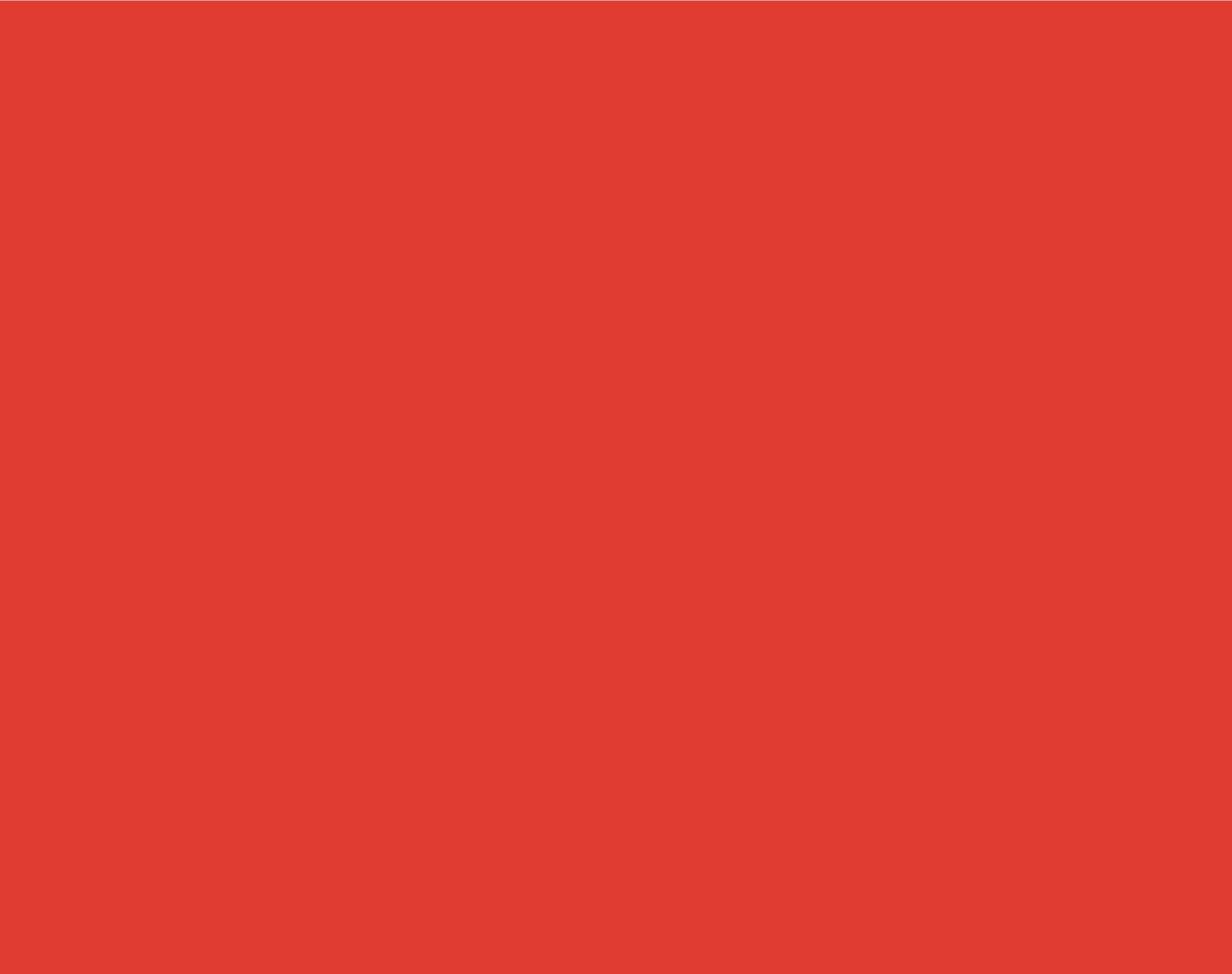Pantone  179 C  CMYK: 0 / 87 / 85 / 0  RGB: 224 / 60 / 49  Hex: #E03C31