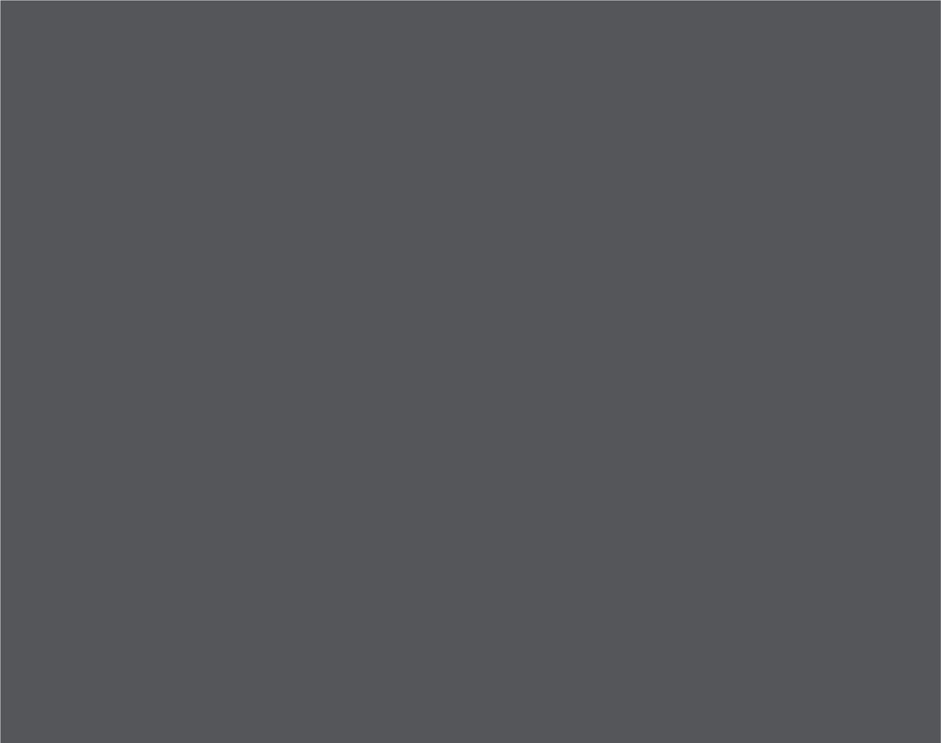 Pantone  Cool Gray 11 C  CMYK: 44 / 34 / 22 / 77  RGB: 83 / 86 / 90  Hex: #53565A