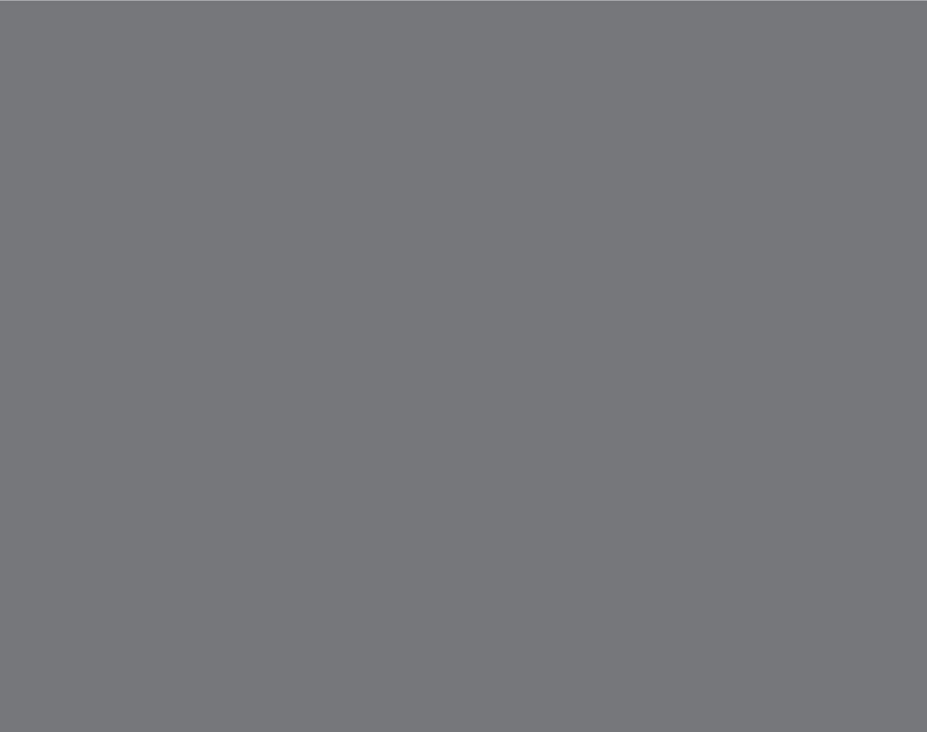 Pantone  Cool Gray 9 C  CMYK: 30 / 22 / 17 / 57  RGB: 117 / 120 / 123  Hex: #75787B