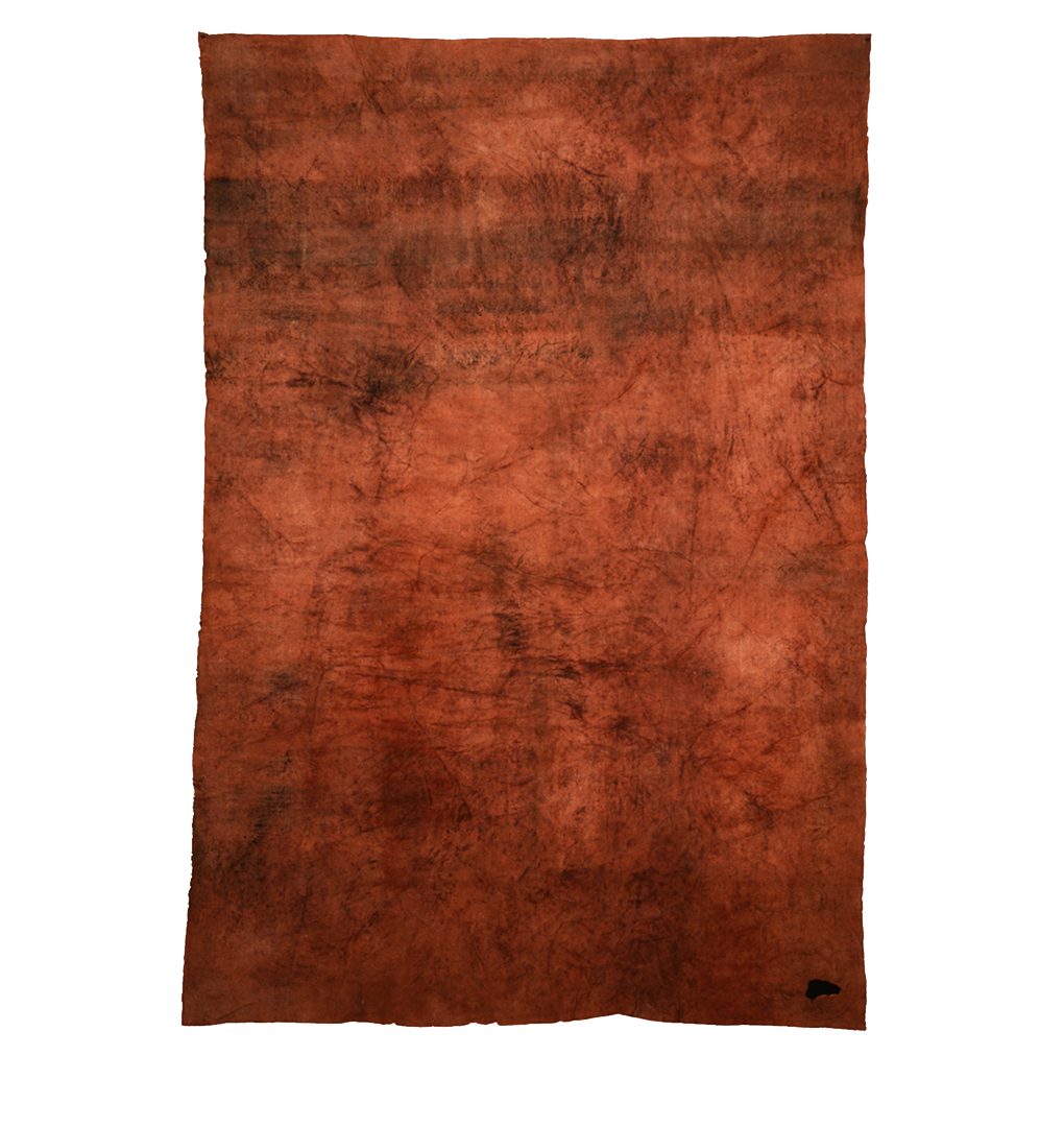 Elements: Fire , mulberry paper, sea water, soil, charcoal, dark orange ochre, dragon's blood, 2014