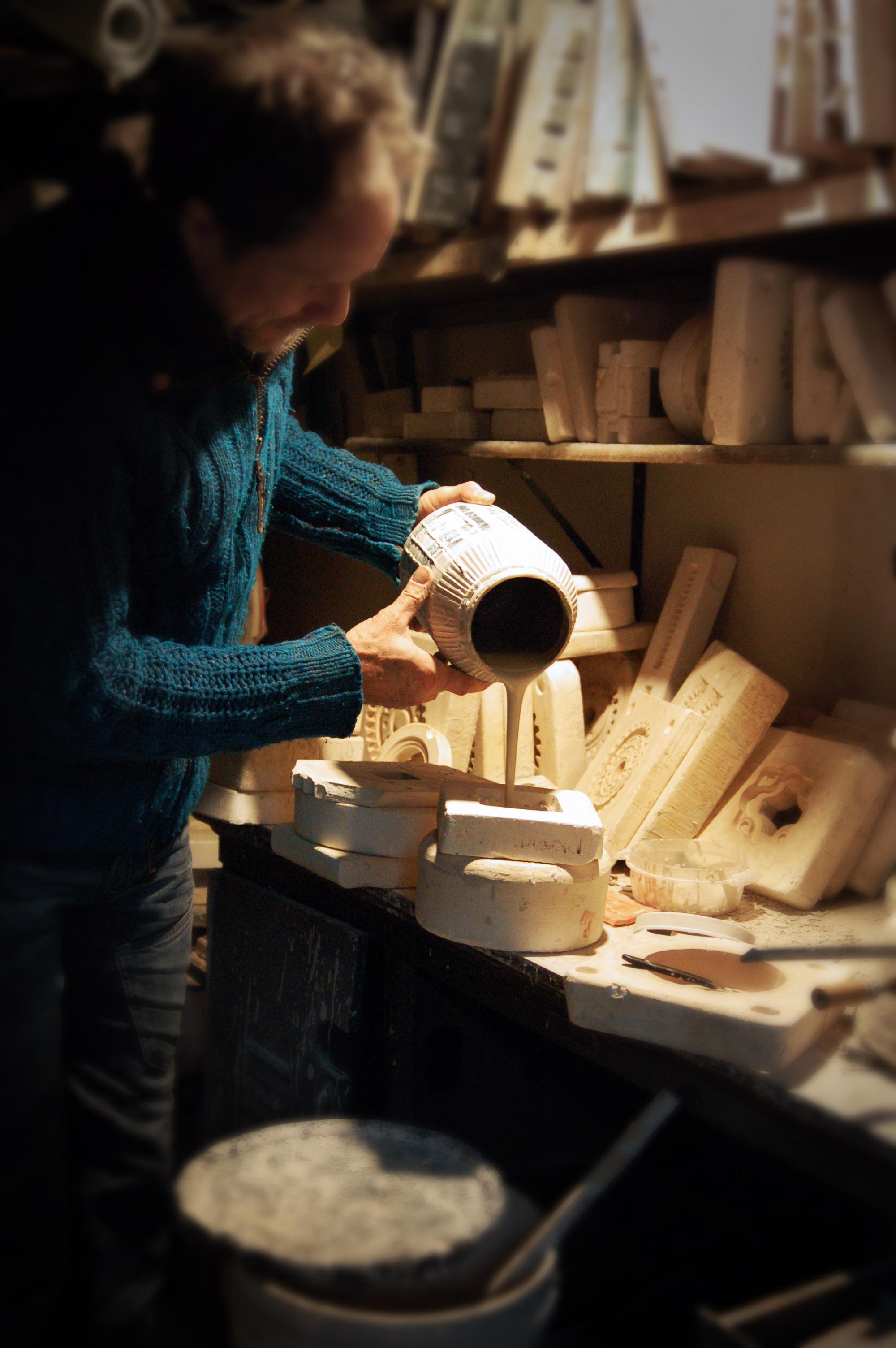 studio pouring molds.jpg