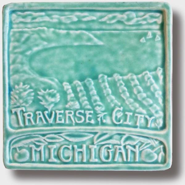 Traverse City 6x6 Art Tile