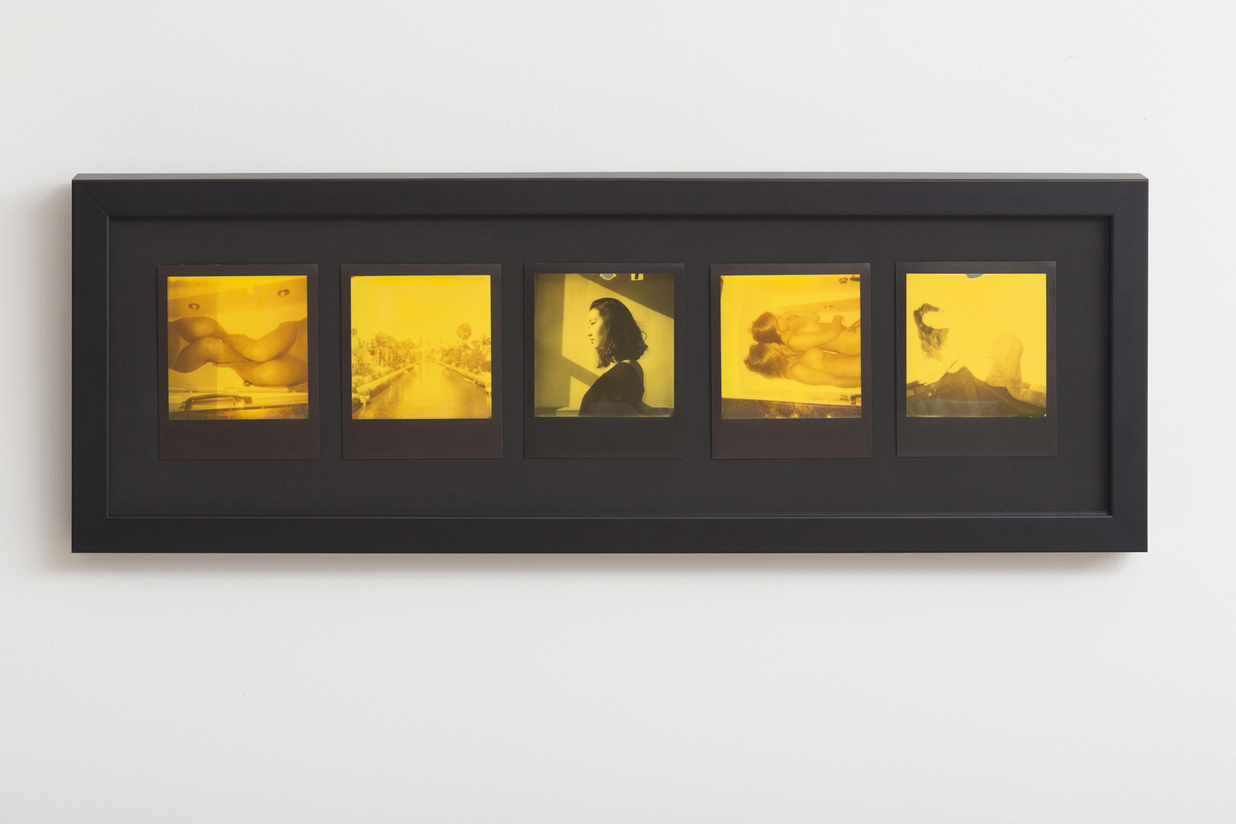 Untitled  (Yellow Duochrome)   Framed Originals  6'' x 18''