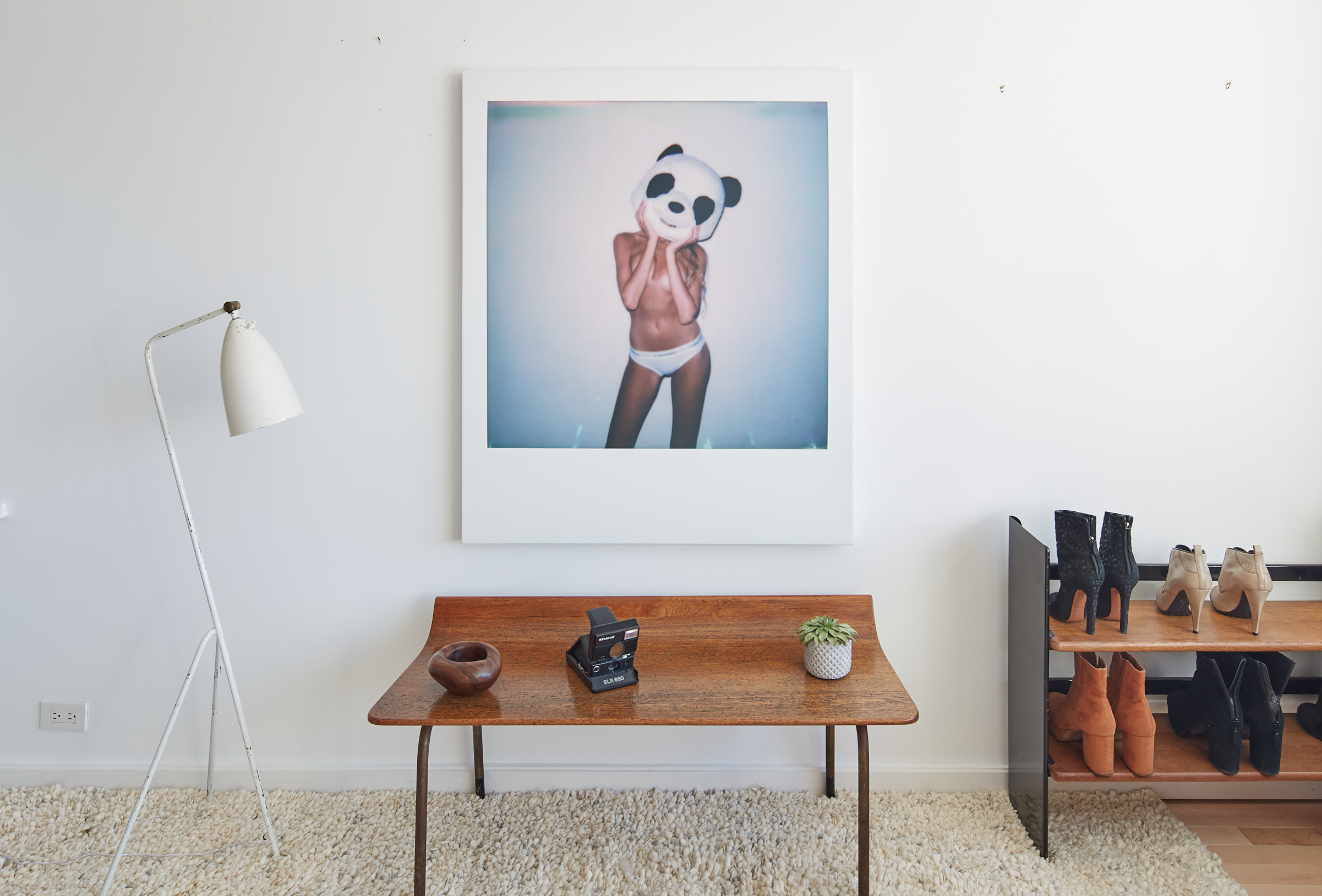 "Untitled  (Panda II)   Archival pigment on canvas  46"" x 38"""