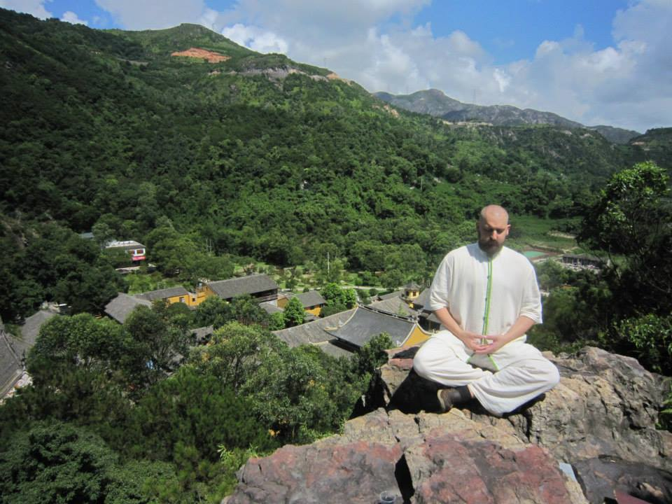 Meditating in China Over Monastery