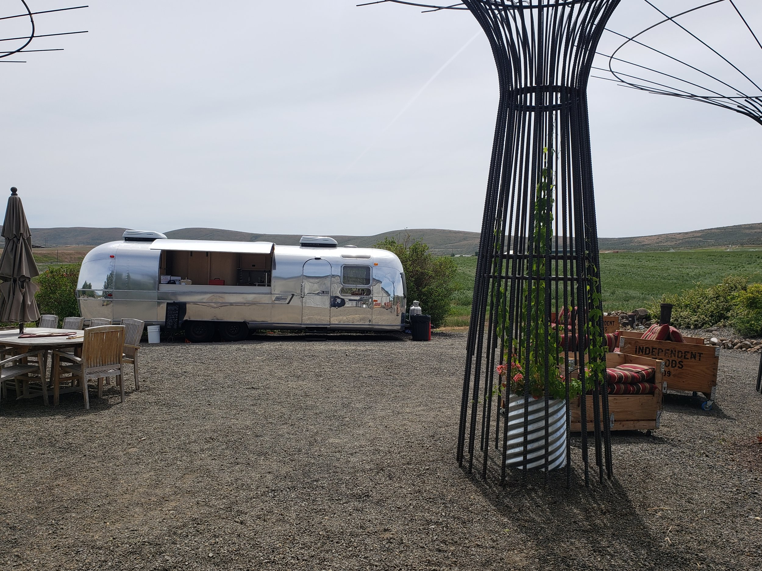 "Mobile cider ""Bullet"" bar - This 31' beauty has been restored and fitted with 4 taps! Enjoy country views while sipping on cider poured from our newest outdoor tasting room addition!"
