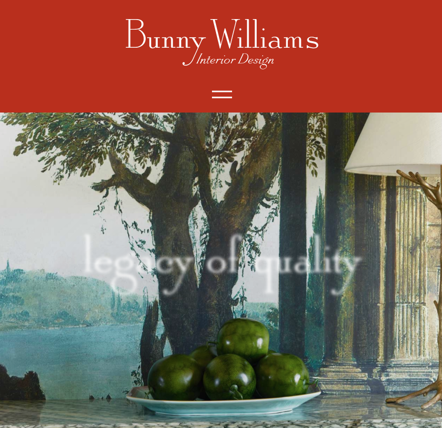 Click here for Bunny Williams STUDIO VISIT with Artgroove.